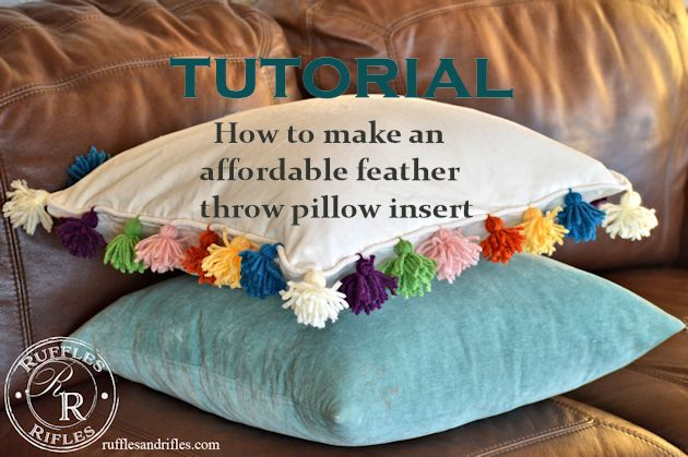 feather throw pillow tutorial