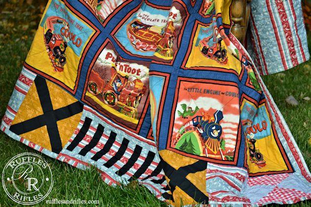 vintage train quilt 2