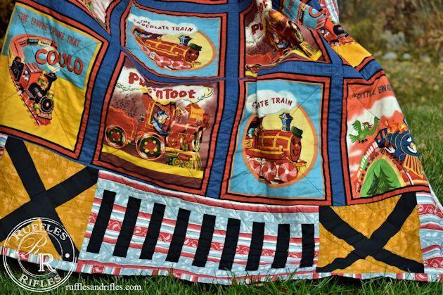 vintage train quilt 3