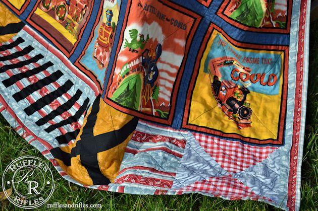vintage train quilt 5