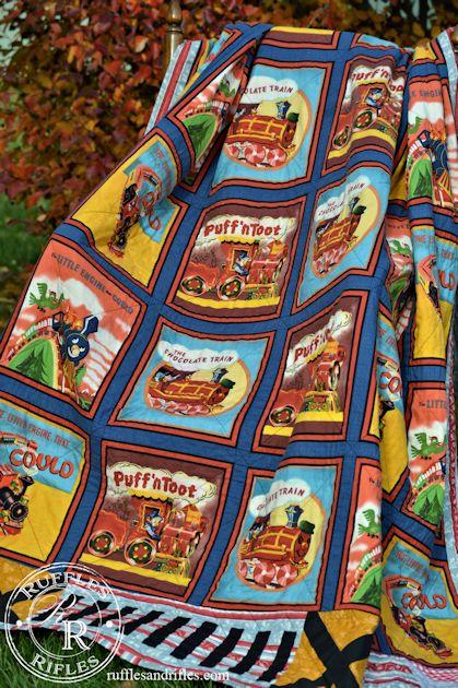 vintage train quilt 6