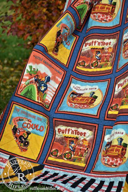 vintage train quilt 7