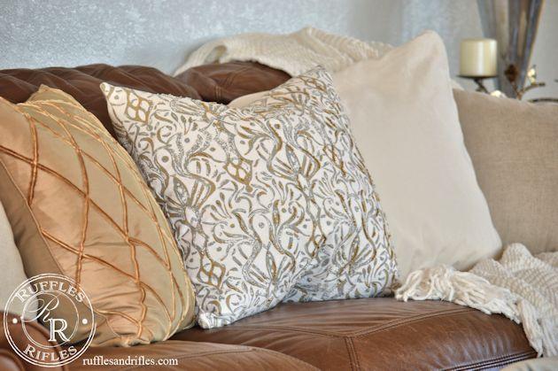 Beaded Throw Pillow 2