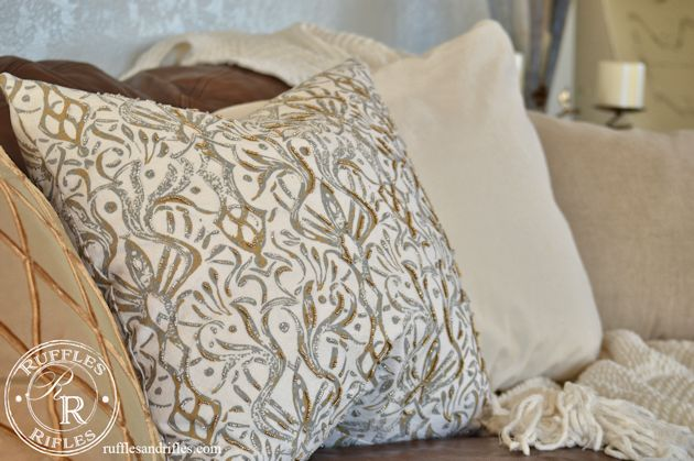 Beaded Throw Pillow 7