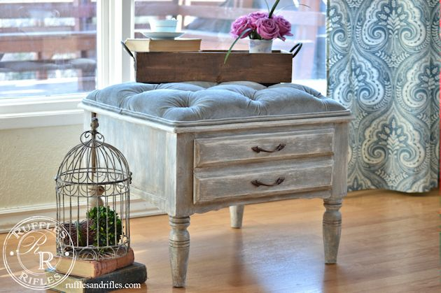 Small Tufted Ottoman 6