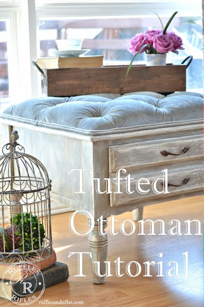 Tufted Ottoman Tutorial grahics