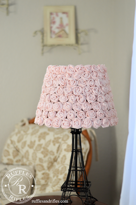 Eiffel Tower Rose Lamp