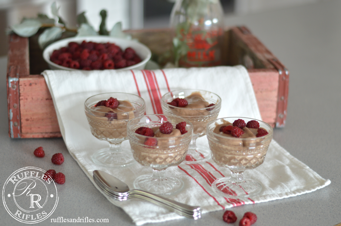 Chocolate Banana Ice Cream in Vintage Dishes