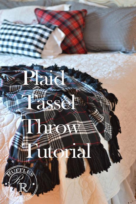 Plaid Tassel Throw Tutorial