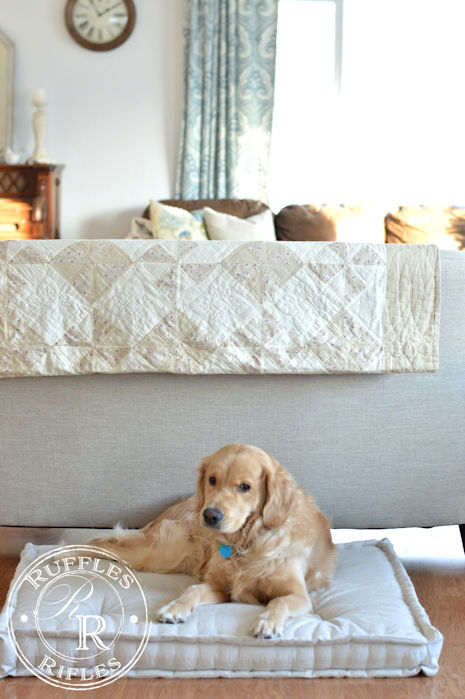 French Mattress Dog Bed Tutorial