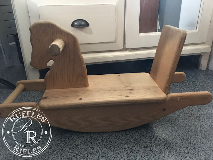 Scandinavian Rocking Horse Before