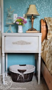 Vintage Sewing Cabinet Turned Nightstand