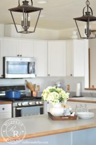 Farmhouse Kitchen Light Reveal