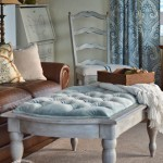 The Coffee Table That Became a Tufted Ottoman
