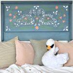 Scandinavian Inspired Swan Headboard