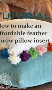 Affordable Feather Throw Pillow Inserts