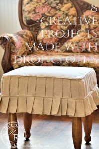 8 Creative Projects Made With Drop Cloths