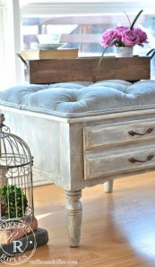 The Small Tufted Ottoman Reveal
