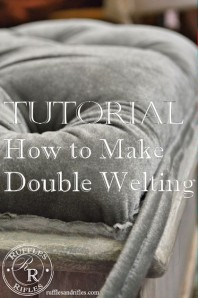 Tutorial How to Make Double Welting