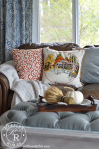 How We Respond to Seasons and Another Fall Embroidered Pillow