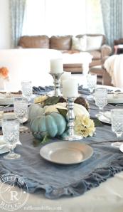 Blue Fall Tablescape