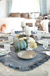 Blue Fall Tablescape