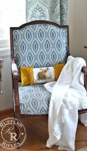 A Bunny Needlepoint Pillow